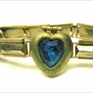 Kids Blue Sweetheart heart Locket Stretch Bracelet